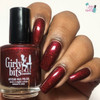 Red Velvet (January 2019 CoTM) by Girly Bits Cosmetics AVAILABLE AT GIRLY BITS COSMETICS www.girlybitscosmetics.com  | Photo credit: Queeen of Nails 83