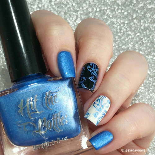 Jack Frosting {Stamping Polish} by Hit the Bottle AVAILABLE AT GIRLY BITS COSMETICS www.girlybitscosmetics.com | Photo credit: @tesladaynails