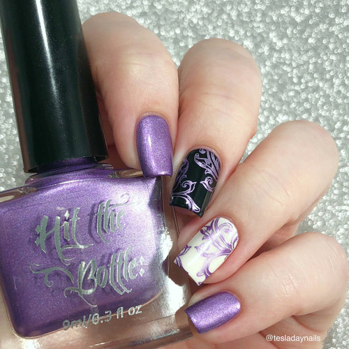 Anything is Popsicle {Stamping Polish} by Hit the Bottle AVAILABLE AT GIRLY BITS COSMETICS www.girlybitscosmetics.com | Photo credit: @tesladaynails