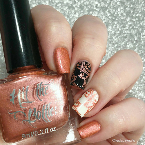 Nectar of the Gods {Stamping Polish} by Hit the Bottle AVAILABLE AT GIRLY BITS COSMETICS www.girlybitscosmetics.com | Photo credit: @tesladaynails