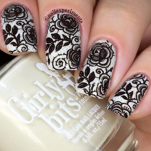 As Black as Night {Stamping Polish} by Hit the Bottle AVAILABLE AT GIRLY BITS COSMETICS www.girlybitscosmetics.com | Photo credit: Nail Experiments