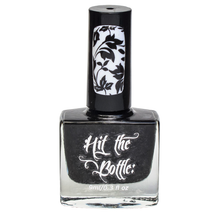 As Black as Night {Stamping Polish} by Hit the Bottle AVAILABLE AT GIRLY BITS COSMETICS www.girlybitscosmetics.com | Photo credit: Hit the Bottle