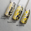 Banana Colada -comparison {Stamping Polish} by Hit the Bottle AVAILABLE AT GIRLY BITS COSMETICS www.girlybitscosmetics.com | Photo credit: Hit the Bottle
