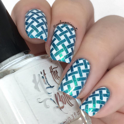 Snowed In {Stamping Polish} by Hit the Bottle AVAILABLE AT GIRLY BITS COSMETICS www.girlybitscosmetics.com | Photo credit: Nail Experiments
