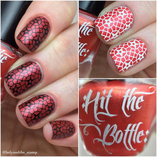 Drop Red Gorgeous {Stamping Polish} by Hit the Bottle AVAILABLE AT GIRLY BITS COSMETICS www.girlybitscosmetics.com | Photo credit: @ladyandthe_stamp