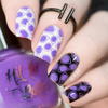 High Voltage Violet {Stamping Polish} by Hit the Bottle AVAILABLE AT GIRLY BITS COSMETICS www.girlybitscosmetics.com | Photo credit: Copycat Claws