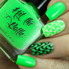 Ectoplasm Green {Stamping Polish} by Hit the Bottle AVAILABLE AT GIRLY BITS COSMETICS www.girlybitscosmetics.com | Photo credit: Copycat Claws