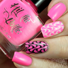 I pink, therefore I am {Stamping Polish} by Hit the Bottle AVAILABLE AT GIRLY BITS COSMETICS www.girlybitscosmetics.com | Photo credit: Copycat Claws