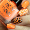 Orange you Excited? {Stamping Polish} by Hit the Bottle AVAILABLE AT GIRLY BITS COSMETICS www.girlybitscosmetics.com | Photo credit: Copycat Claws