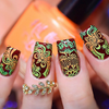 Orange you Excited? {Stamping Polish} by Hit the Bottle AVAILABLE AT GIRLY BITS COSMETICS www.girlybitscosmetics.com | Photo credit: Urban Nail Art
