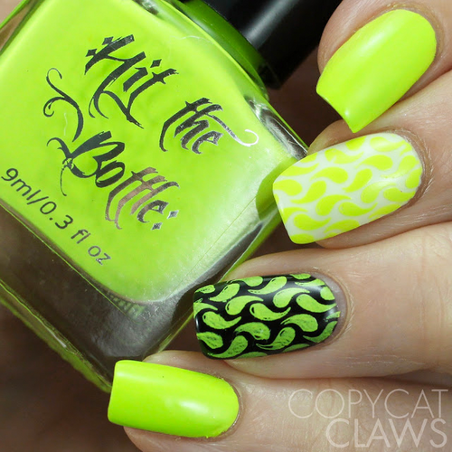 Shazam Yellow {Stamping Polish} by Hit the Bottle AVAILABLE AT GIRLY BITS COSMETICS www.girlybitscosmetics.com | Photo credit: Copycat Claws