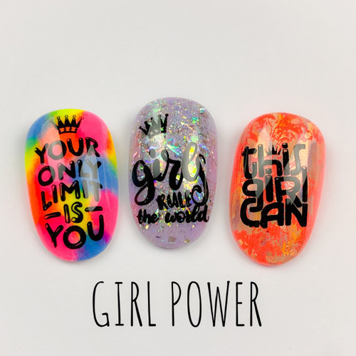 Girl Power by Dixie Plates AVAILABLE AT GIRLY BITS COSMETICS www.girlybitscosmetics.com | Photo credit: Dixie Plates