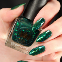Slytherin from the Harry Potter Collection by Ethereal Lacquer AVAILABLE AT GIRLY BITS COSMETICS www.girlybitscosmetics.com | Photo credit: Rachelaughs