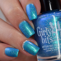 Cyantifically Proven (March 2019 CoTM) by Girly Bits Cosmetics AVAILABLE AT GIRLY BITS COSMETICS www.girlybitscosmetics.com  | Photo credit: Manicure Manifesto