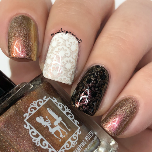 Rum Balls  (9mL Stamping Polish) by Girly Bits Cosmetics AVAILABLE AT GIRLY BITS COSMETICS www.girlybitscosmetics.com | Photo credit: Nail Experiments