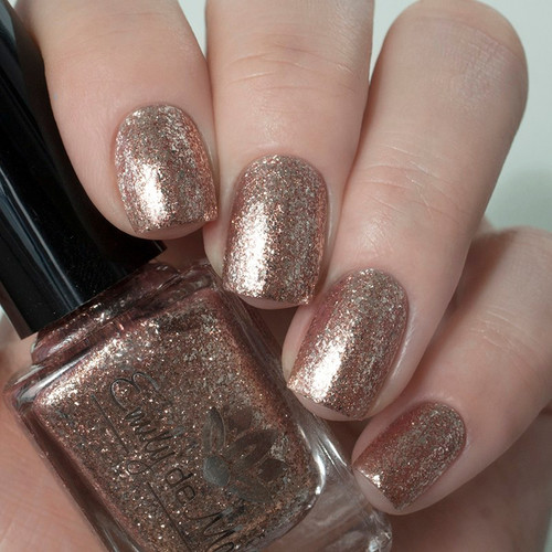 Chrome Buttons from the December 2018 Collection by Emily de Molly AVAILABLE AT GIRLY BITS COSMETICS www.girlybitscosmetics.com | Photo credit: @yulia_nails