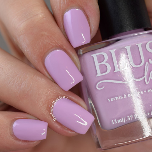 Kiss Me from the Candy Heart Cremes Collection by BLUSH Lacquers AVAILABLE AT GIRLY BITS COSMETICS www.girlybitscosmetics.com | Photo credit: Manicure Manifesto
