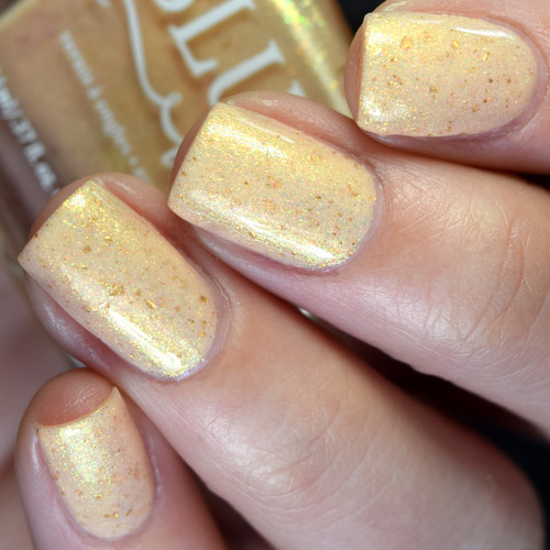 Creamsicle Clouds from the Double Rainbow Shimmers Collection by BLUSH Lacquers AVAILABLE AT GIRLY BITS COSMETICS www.girlybitscosmetics.com | Photo credit: @pamperedpolishes