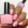 Be Mine {Candy Heart Cremes Collection} and Cotton Candy Rays {Double Rainbow Shimmers Collection} by BLUSH Lacquers AVAILABLE AT GIRLY BITS COSMETICS www.girlybitscosmetics.com | Photo credit: Queen of Nails 83
