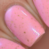 Be Mine {Candy Heart Cremes Collection} and Cotton Candy Rays {Double Rainbow Shimmers Collection} by BLUSH Lacquers AVAILABLE AT GIRLY BITS COSMETICS www.girlybitscosmetics.com | Photo credit: Manicure Manifesto