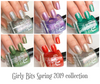 Spring 2019 collection | Girly Bits Cosmetics. Swatches by ManiGeek