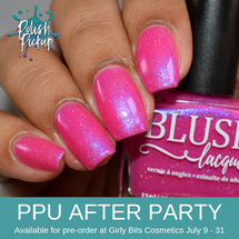 Electric Bloom 2.0 by BLUSH Lacquers (PPU 2019 After Party Pre-Order) AVAILABLE FOR PRE-ORDER AT GIRLY BITS COSMETICS July 9th - 31st www.girlybitscosmetics.com