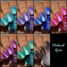 Misheard Lyrics Collection by Girly Bits Cosmetics AVAILABLE AT GIRLY BITS COSMETICS www.girlybitscosmetics.com | Photo credit: The Polished Mage