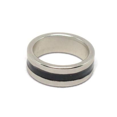 Silver and black neodymium ring magnet - Girly Bits