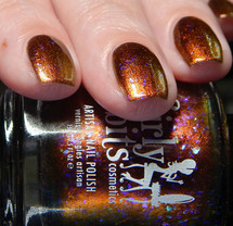 Pumpkin Sumthin'  (October 2019 CoTM) by Girly Bits Cosmetics AVAILABLE AT GIRLY BITS COSMETICS www.girlybitscosmetics.com    Photo credit: Cosmetic Sanctuary