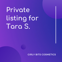 Private listing for Tara S.