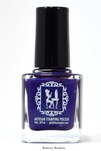 We Will Never Be Royal-Tea (stamping polish)  by Girly Bits Cosmetics AVAILABLE AT GIRLY BITS COSMETICS www.girlybitscosmetics.com | Photo credit: Manicure Manifesto