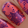 We Will Never Be Royal-Tea (stamping polish)  over Left Them On Red by Girly Bits Cosmetics AVAILABLE AT GIRLY BITS COSMETICS www.girlybitscosmetics.com | Photo credit: Manicure Manifesto