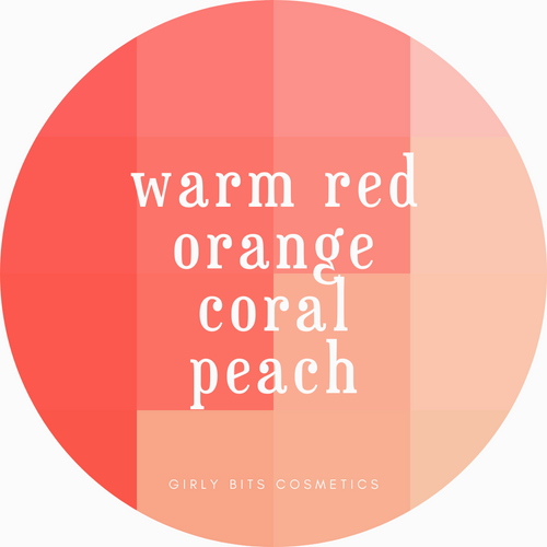 Girly Bits Prototypes - Warm Red Colours (orange, coral, peach, etc)