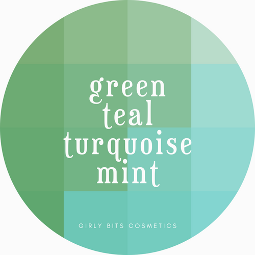 Girly Bits Prototypes - greens, teals, turquoise, mint.