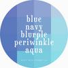 Girly Bits Prototypes - blues, navy, blurple,  periwinkle, aqua.