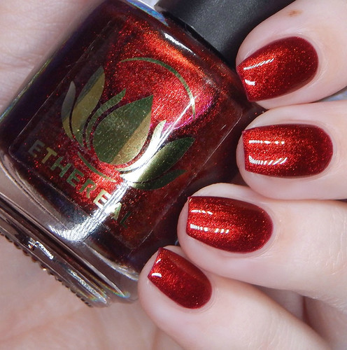 Blood Orange from the Fruity Juicy Collection by Ethereal Lacquer AVAILABLE AT GIRLY BITS COSMETICS www.girlybitscosmetics.com | Photo credit: Cosmetic Sanctuary