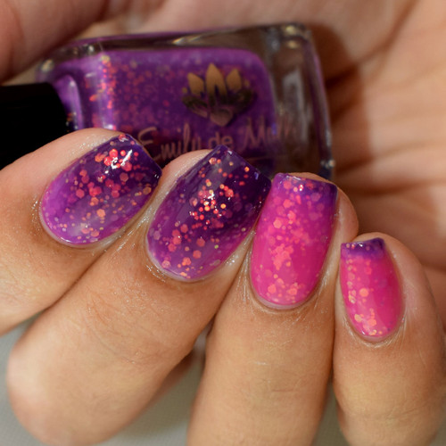 Ombres and Glitter by Emily de Molly
