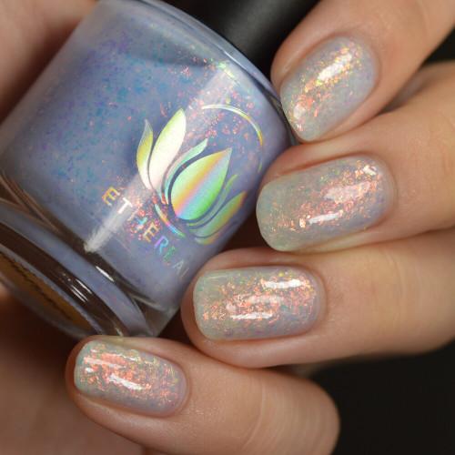 Snowflakes nail polish