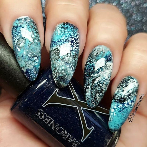 Stargate Fluid Art Polish by Baroness X