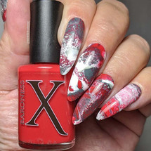 Down Comes The Blood Fluid Art Polish by Baroness X
