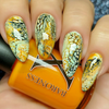 Up Comes the Spider Fluid Art Polish by Baroness X