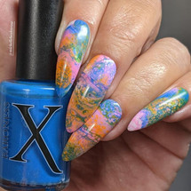 Cool Breeze Fluid Art Polish by Baroness X