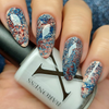 White Lace Fluid Art Polish by Baroness X