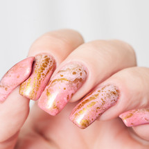 Glam Metallic Gold Fluid Art Polish by Baroness X