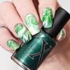Juniper Metallic Deep Green Fluid Art Polish by Baroness X