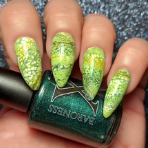 Juniper Metallic Deep Green Fluid Art Polish by Baroness X
