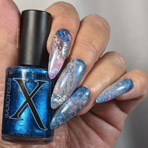 Lapis Metallic Bright Blue Fluid Art Polish by Baroness X