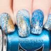 Lapis Metallic Bright Blue Fluid Art Polish by Baroness X
