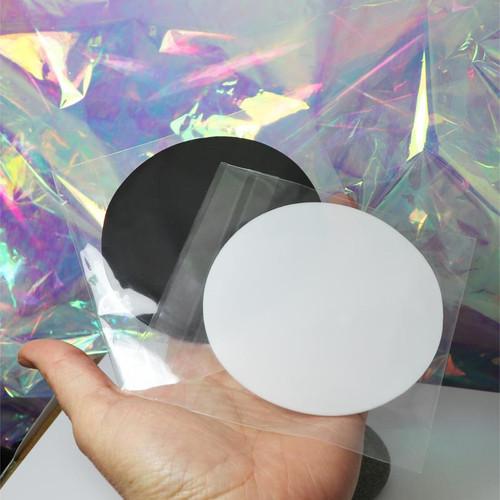 Round Silicone Nail Art Mat for Fluid Nail Art (WHITE)