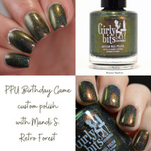Retro Forest PPU Birthday Game custom {small batch limited release} by Girly Bits
